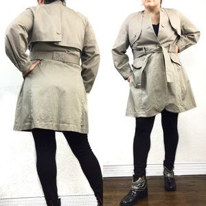 Simply Vera Wang tan belted cotton trench coat xl